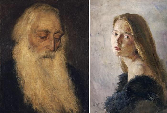 Портрет старца (архимандрит Сергий). 1986 год / Портрет Наташи. 1988 год.