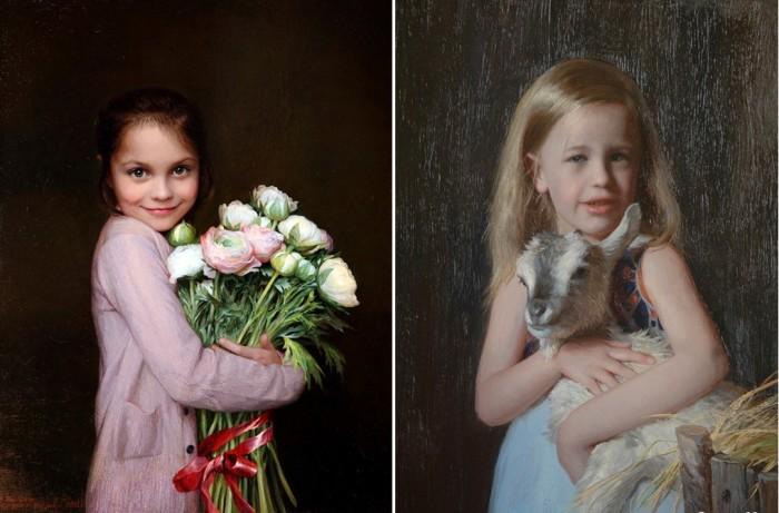 Портретная живопись.  от К. Мирошника и Н. Кургузовой-Мирошник.