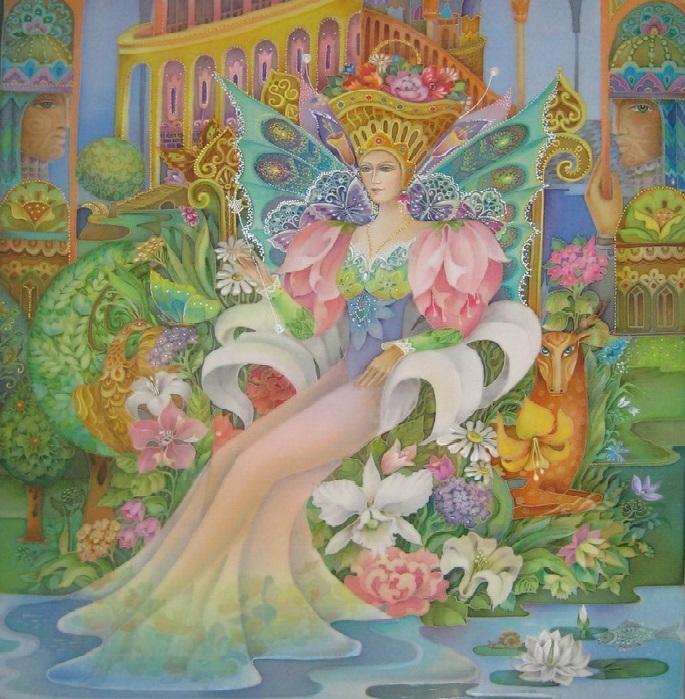 «Сказочная Фея». Холодный батик. Автор: Любовь Тощева.