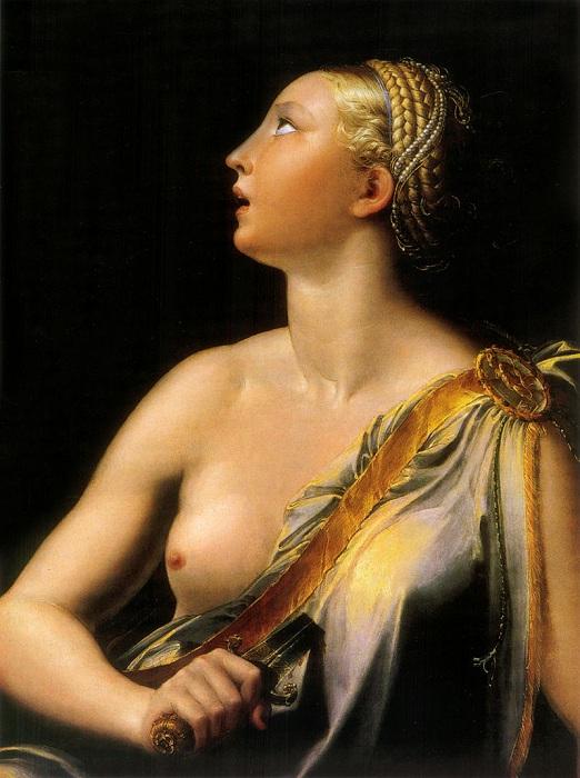 «Lucrezia». (1540 год). Автор: Франческо Пармиджанино.