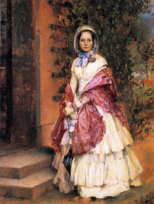 Adolph von Menzel. Clara Ilger, later Frau Schmidt von Knobelsdorf. 1848