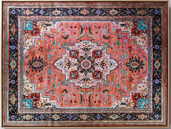 Персидский ковер, изображенный красками. Автор: Джейсона Сейфи.