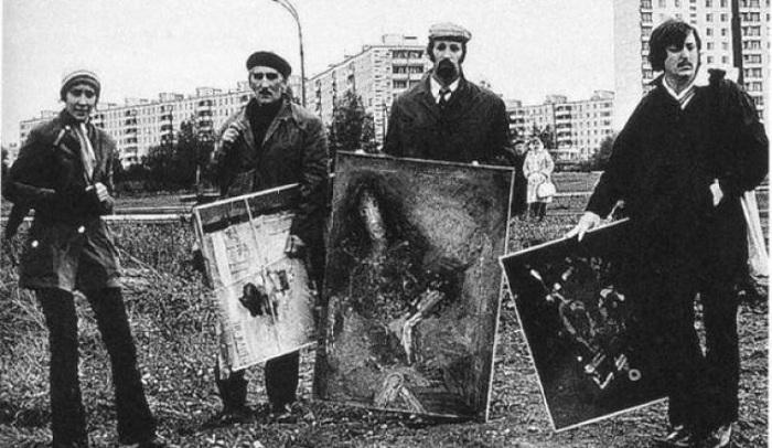 Участники «Бульдозерной выставки».
