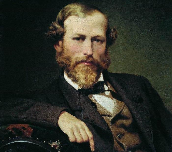 Константин Дмитриевич Флавицкий (1830-1866)— российский исторический живописец на портрете Ф. А. Бронникова.