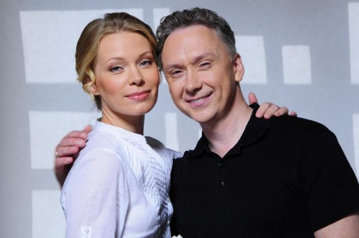 Вадим Демчог со своей супругой Вероникой  Рябковой.