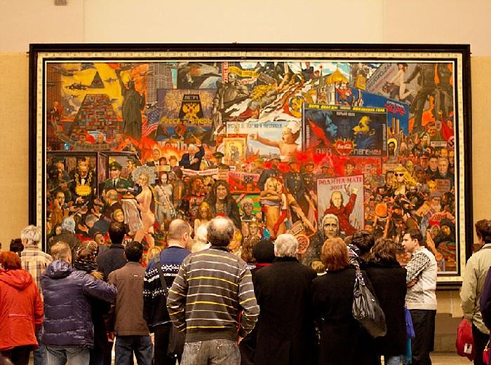 Рынок нашей демократии. Галерея на Волхонке. Автор: И.С. Глазунов