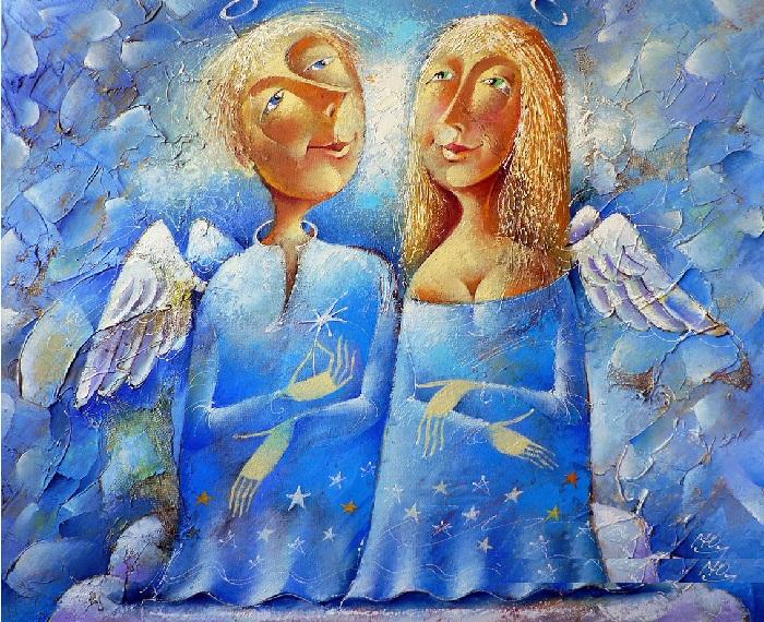 «Два ангела». Художник: Юрий Мацик.