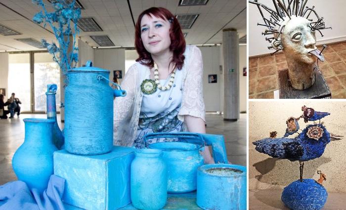 Белорусская художница Анна Силивончик и ее скульптурные композиции.