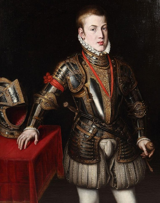 Портрет принца Дона Карлоса.  Автор:Санчес Коэльо.