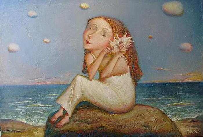 Девочка с ракушкой. Автор: Геннадий Шлыков.