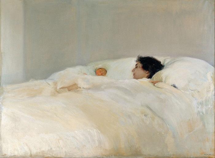 «Женщина с младенцем». Автор: Хоакин Соролья-и-Бастида.