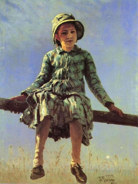 «Стрекоза». (1884 год). Автор: Илья Репин.