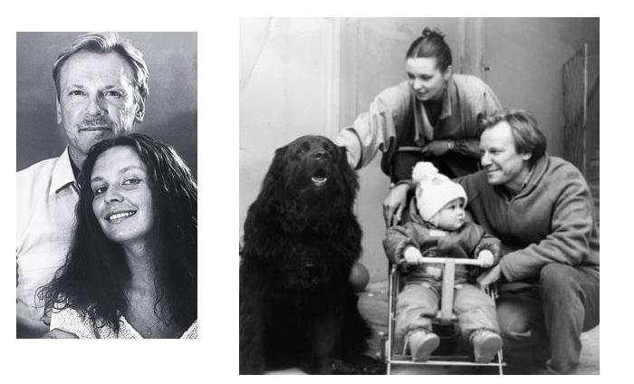 Татьяна Кочемасова и Сергей Шакуров с дочерью.