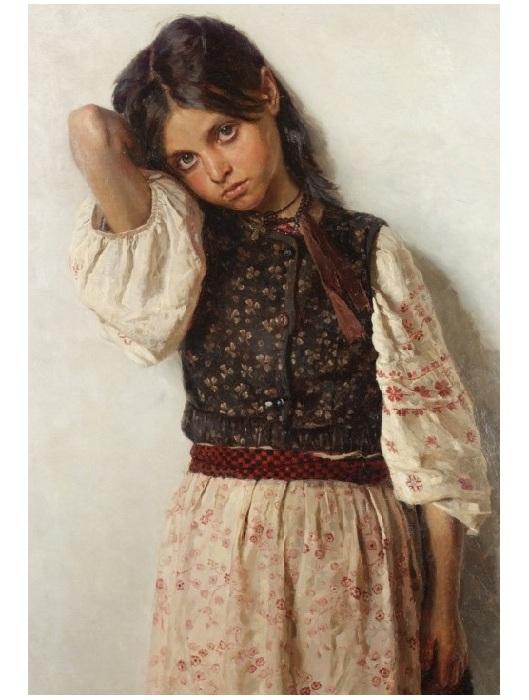 Девочка из Малороссии. Автор: Николай Бодаревский.