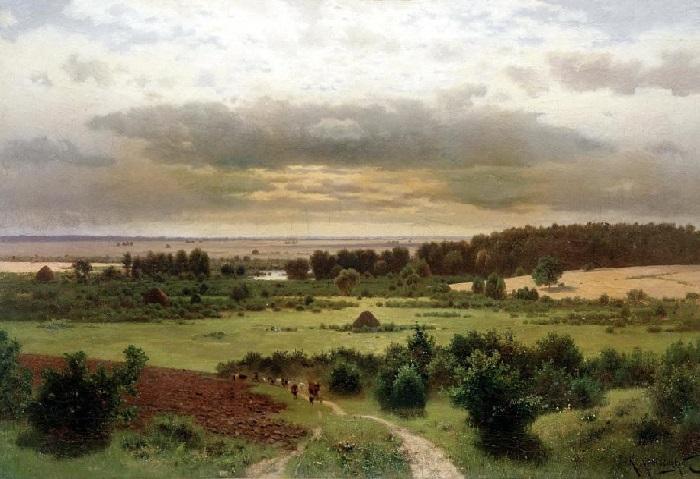 Лесные дали. (1889 год). Художник: Константин Крыжицкий.