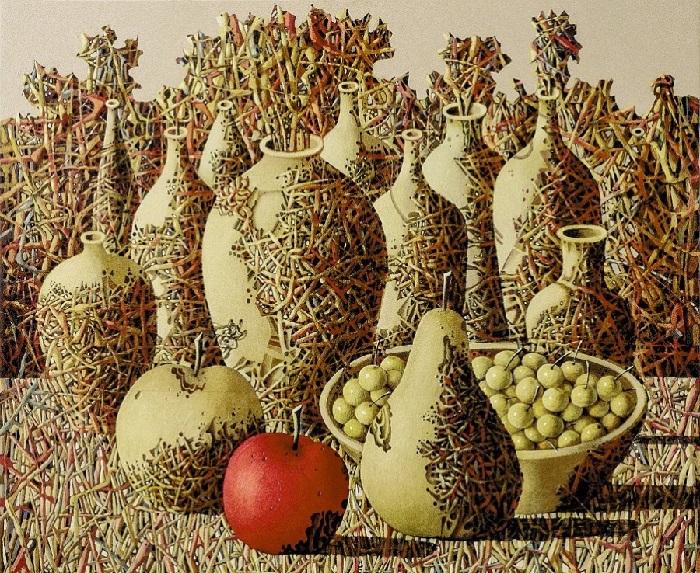 Натюрморт с яблоком. Автор: Иван Марчук.