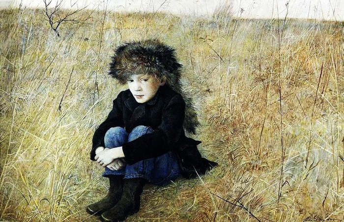 «Вдали от дома» (портрет сына).Автор: Ðндрю Уайет.