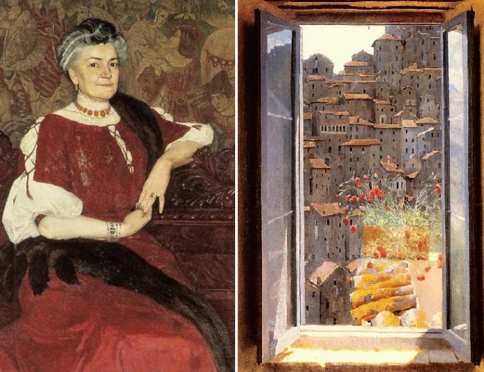 Portret Pani Herse. 1907. / Открытое окно. Художник: Эдвард Окунь