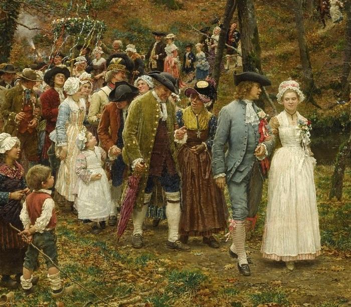 «Свадебная процессия». Фрагмент.