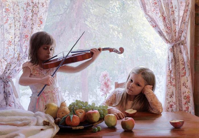 Первый концерт. Сюжетная живопись от К. Мирошника и Н. Кургузовой-Мирошник.