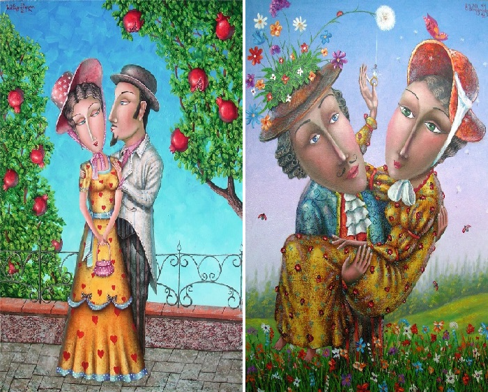Романтические чувства. Автор: Зураб Мартиашвили.