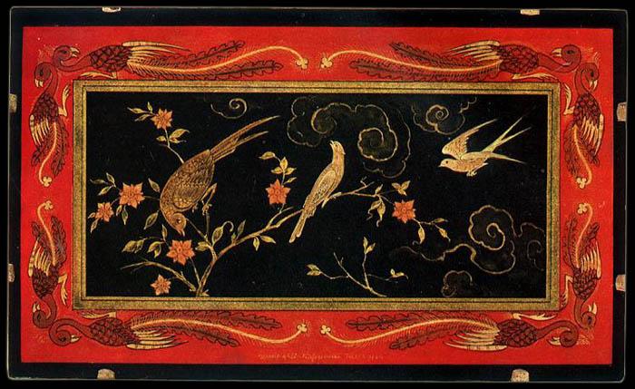 Китайская миниатюрная роспись.