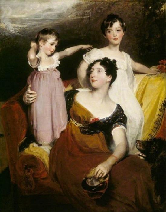 «Лидия Элизабет Хоар, леди Эклэнд, с сыновьями Томасом и Артуром» (1814-1815 г.г.) Автор: Томас Лорес.