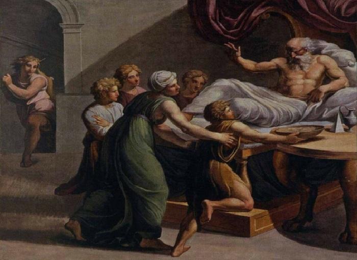 «Истории Исаака». Исаак благословляет Иакова.