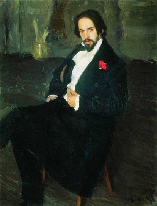 Портрет И.Я.Билибина. (1901 год). Художник Борис Кустодиев.