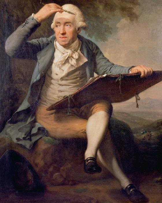 Портрет художника Адриана Зингга. (1796-99) Холст, масло. 160 см х 98 см. Художник: Anton Graff.