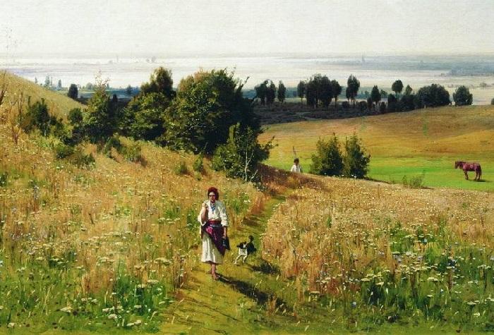 «Малороссийский пейзаж». (1887 год). Художник: Владимир Орловский.