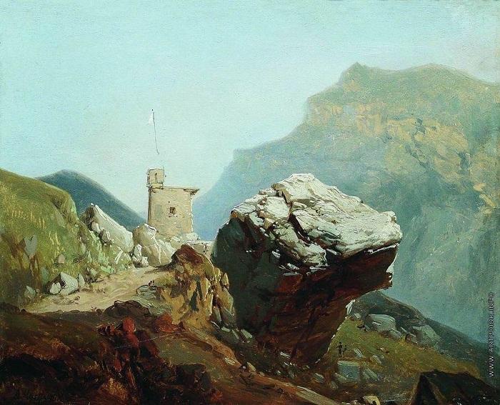 Крепость в горах. Автор: А.И.Мещерский.