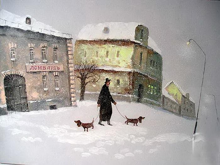 Дедов гулена и бабкин домосед. Автор: Андрей Репников.
