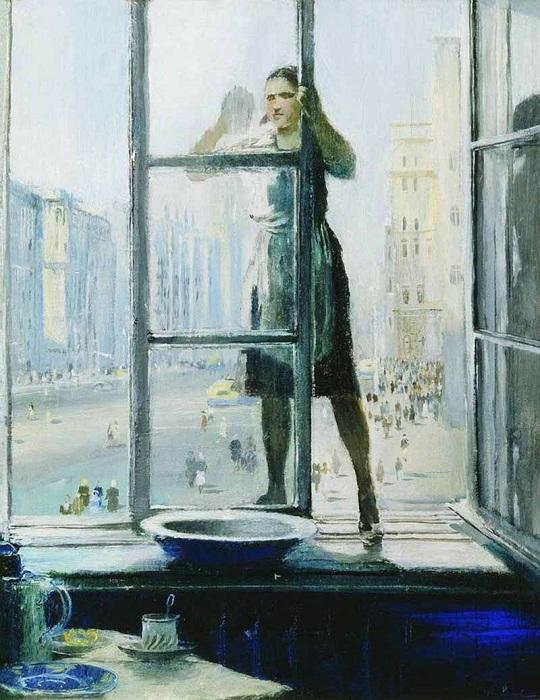 Весеннее окно. Автор: Юрий Пименов.