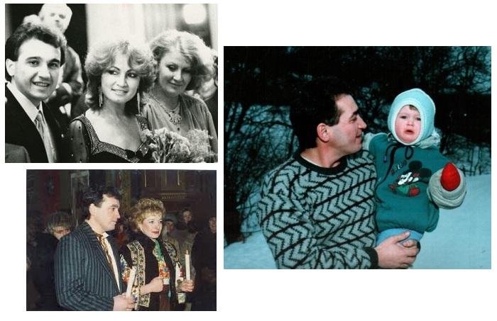 Назарий Яремчук со второй женой Дариной. / С дочкой Маричкой.