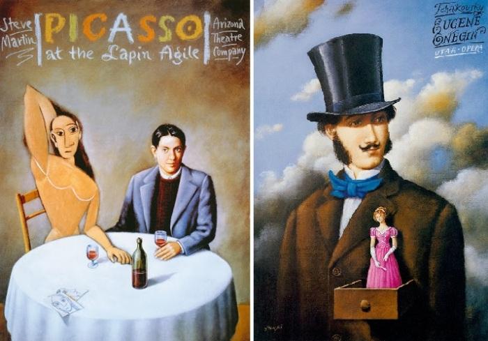 Театральные постеры от Rafalа Olbinski.