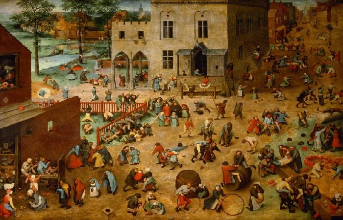 «Игры детей». (1560 год). Автор: Питер Брейгель Старший.