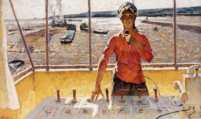 «Хозяйка Волги» 1977 (год). Автор: Прокопенко Алексей.