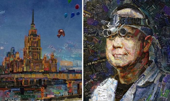 Картины в стиле APP.ART от Андрея Шатилова.