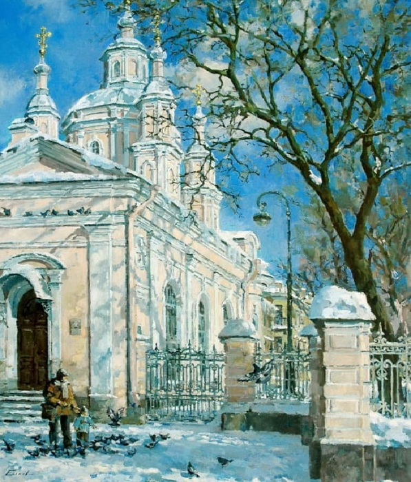 Скоро весна. У Андреевского собора, 2010 год.