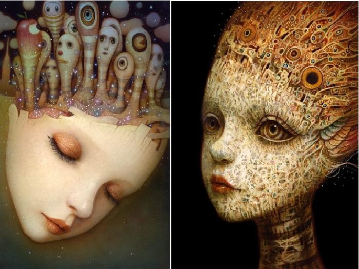 Фантастический сюрреализм в портретах от Naoto Hattori.