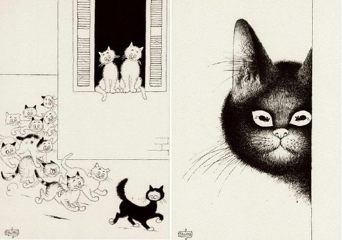 Из серии *Кошки* Автор: Альберт Дюбуа.