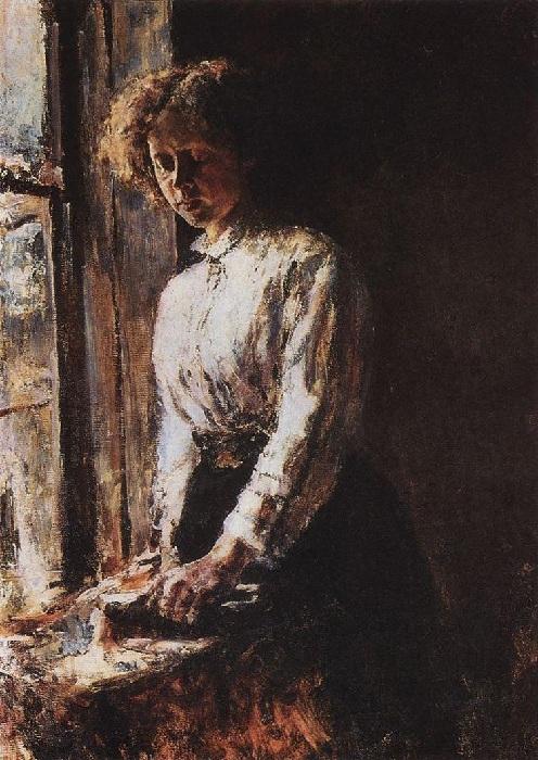 Оля Трубникова. Портрет жены художника. Автор: В.Серов