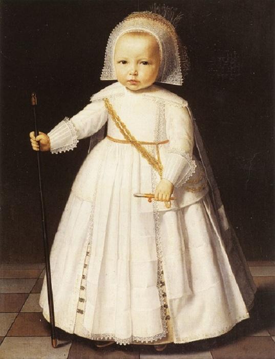 Мальчик в белом. (ок. 1641 год). Автор: Дирк ван Сантвоорт.