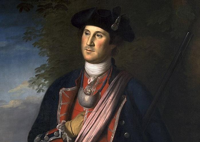 Джордж Вашингтон (1772 год). Чарльз Пил за всю жизнь написал около 60 портретов Джородж Вашингтона. Автор: Чарльз Уилсон Пил.