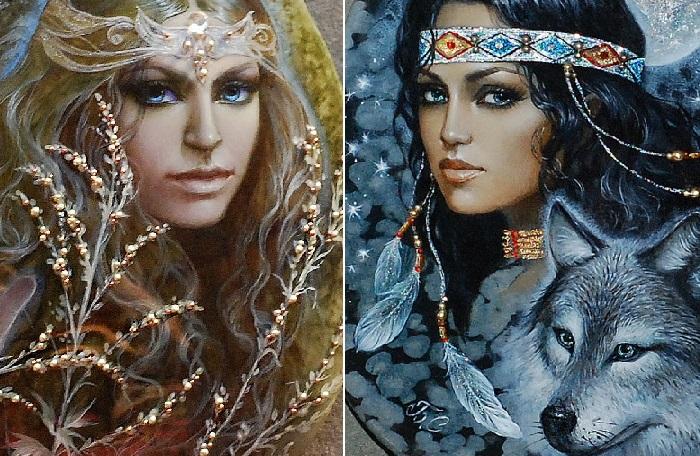 Полынь. / Волк и женщина. Автор: Светлана Беловодова.