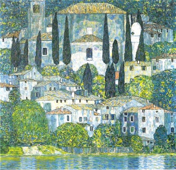 Церковь в Кассоне. (1913 год). Автор: Gustav Klimt.