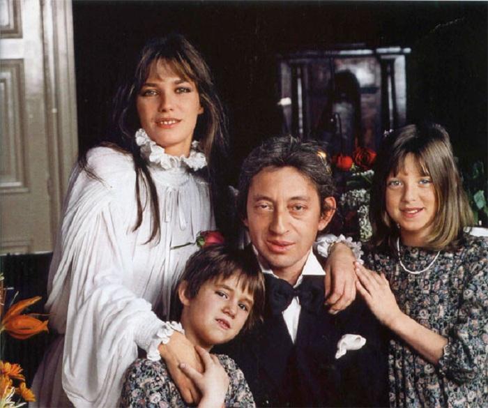 Счастливая семья Сержа Генсбура.