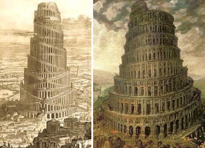 До находки в начале ХХ века развалин Вавилонской башни её изображали в виде спирали, а позже - в виде зиккуратов.