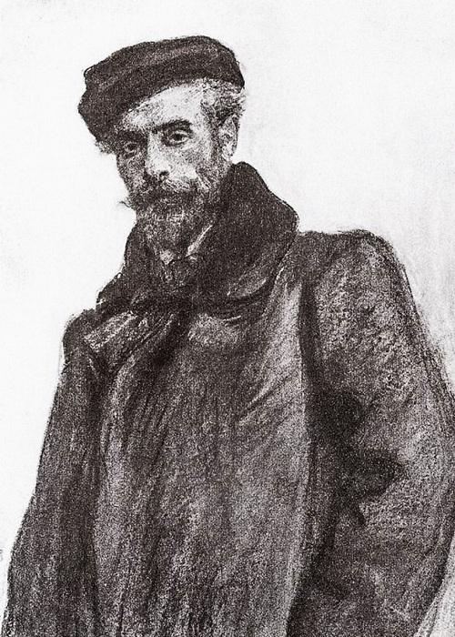 Портрет И. И. Левитана. (1900-е). Автор: Валентин Серов.